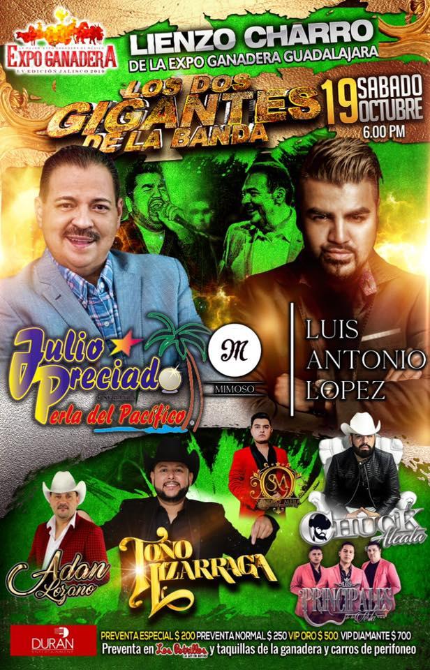 Julio Preciado y Mimoso Expo Ganadera 2019