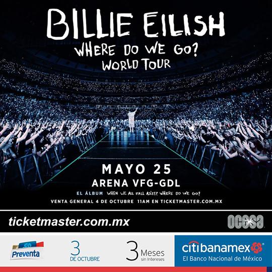 Billie Eilish Arena VFG Guadalajara 2020