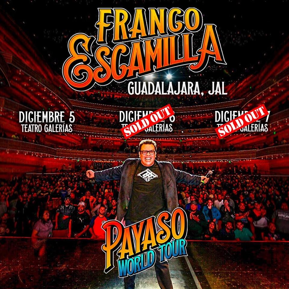 Franco Escamilla Payaso Tour Gadalajara 2019