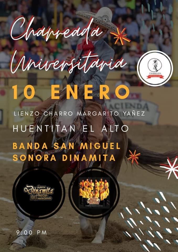Charreada Banda San Miguel y Sonora Dinamita Guadalaara Enero 2020