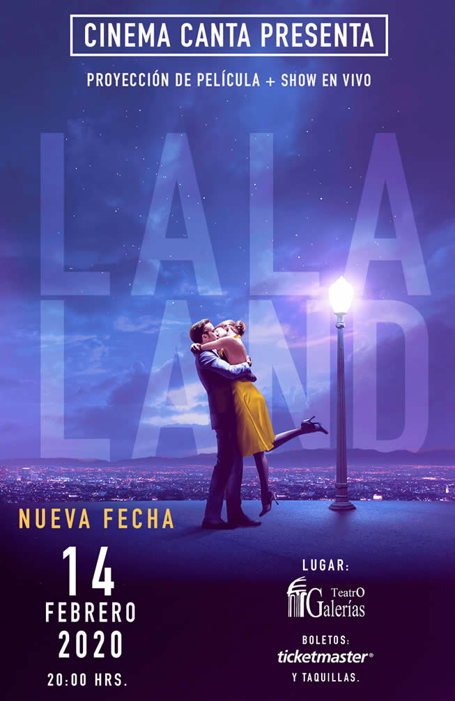 Cinema Canta Presenta: La La Land Guadalajara Febrero 2020